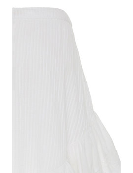 Lisette Tiered High Low Cotton Skirt by Love Shack Fancy