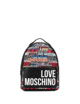 Contrast Logo Print Backpack by Love Moschino