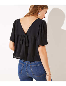 Bow Back Top by Loft
