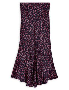 Ditsy Floral Flounce Midi Skirt by Topshop