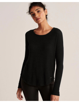 Cozy Long Sleeve Crew Tee by Abercrombie & Fitch