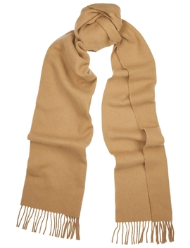 Bova Brown Wool Blend Scarf by Totême