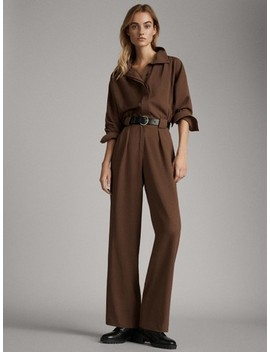 Jumpsuit With Front Darts by Massimo Dutti