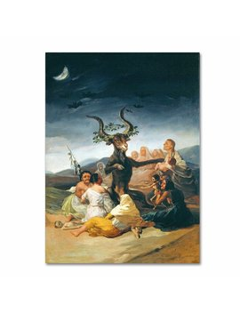 """""""The Witches"""" By Francisco Goya Painting Print On Wrapped Canvas by Trademark Fine Art"""