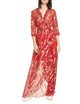 Hali Metallic Print Silk Blend Maxi Dress by Ba&Sh