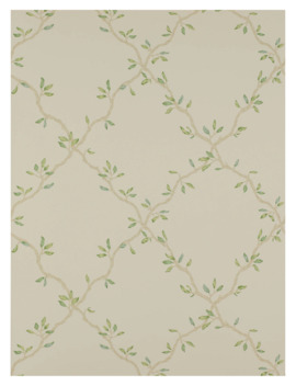 Colefax & Fowler Leaf Trellis Wallpaper, Pale Green, 07706/02 by Colefax & Fowler