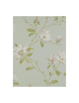 Colefax & Fowler Marchwood Wallpaper, Aqua, 07976/02 by Colefax & Fowler