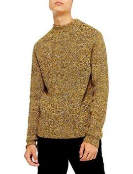 Twist Stitch Mock Neck Sweater by Topman