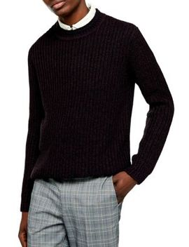 Chunky Crew Neck Sweater by Topman