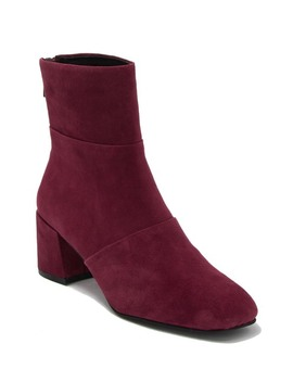 Eryc Pleated Block Heel Boot by Kenneth Cole
