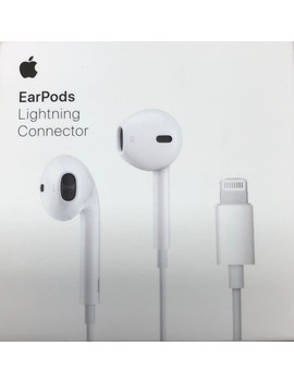 Apple Ear Pods In Ear Earbuds With Remote, Mic And Lightning Connector Earbud Headphones I Phone I Os, White (Open Box   Like New) by Applle