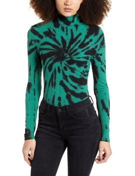 Long Sleeve Tie Dye Mock Neck Bodysuit by Ten Sixty Sherman