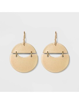 Rounded Shaky Drop Earrings   Universal Thread™ Gold by Universal Thread