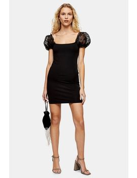 Black Organza Mini Dress by Topshop