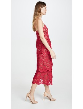Flower Lace Midi Dress by Self Portrait