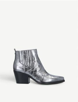 Winona Metallic Leather Ankle Boots by Sam Edelman