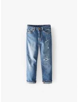 Destroyed Indigo Skinny Jeans by Zara