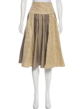 Metallic Knee Length Skirt by Matthew Williamson