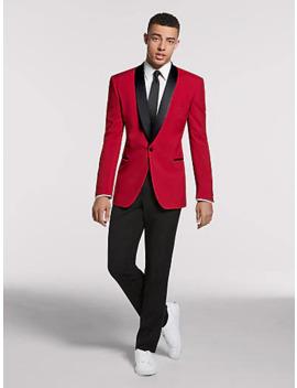 Egara Red Slim Fit Dinner Jacket Egara Black Extreme Slim Fit Dress Pants Egara Orange White Extreme Slim Fit Dress Shirt Egara Black Skinny Tie by Mens Wearhouse