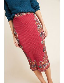 Farm Rio Catalina Knit Pencil Skirt by Farm Rio