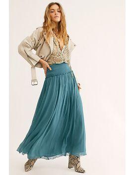 Cosmic Crinkle Maxi Skirt by Free People
