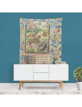 Medieval Tapestry, Vintage Wall Art, Dragon Wall Art, Renaissance Art, Medieval Wall Hanging, Dragon Decor, Fairytale Art, Artistic Gifts by Etsy