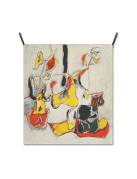 Wall Hanging Fabric Poster Cloth Printing Banner Tapestry Wall Decor Painting Artwork Garden In Sochi By Arshile Gorky   Gm84152 by Etsy
