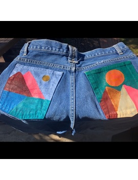 Hand Painted Vintage Denim Jeans by Bugle Boy