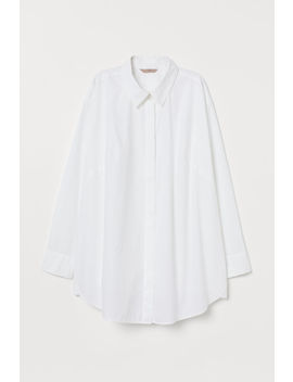 H&M+ Oversized Cotton Shirt by H&M