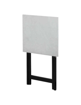 Faux White Marble Folding Snack Tray Table by Bed Bath And Beyond