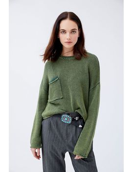 Uo Leona Slouchy Pocket Sweater by Urban Outfitters
