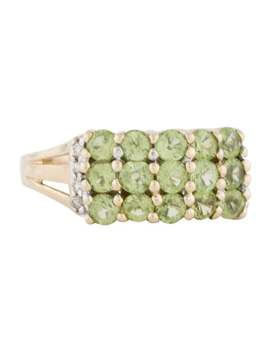 14 K 1.95ctw Peridot & Diamond Ring by Ring