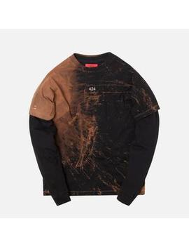 424 Reworked Double Layer Bleached Tee by 424