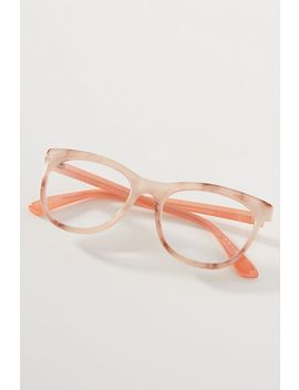 Zi Gi + Mar Ai S Mixed Materials Round Reading Glasses by Anthropologie