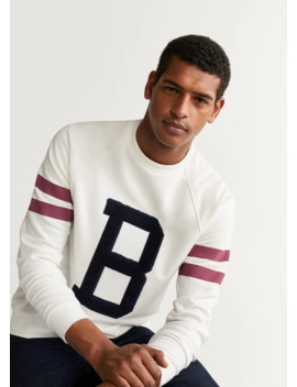 Embroidered Varsity Sweatshirt by Mango