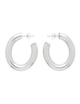 Ssense Exclusive Silver Mini Curve Earrings by Laura Lombardi