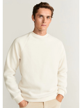 Faux Shearling Sweatshirt by Mango