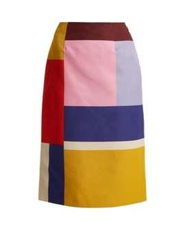 Sigma Ottoman Colour Block Pencil Skirt by Mary Katrantzou