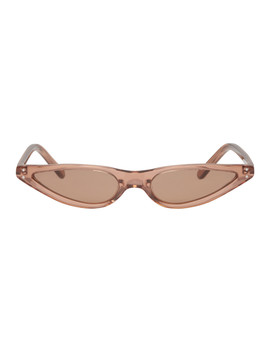 Brown Micro Cat Eye Sunglasses by George Keburia
