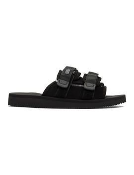 Sandales Noires Moto Mab by Suicoke