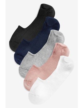 Cushion Sole Invisible Trainer Socks Five Pack by Next