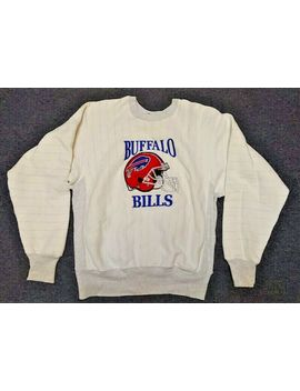 Vintage L Large Buffalo Bills Stitched Embroidered Trench Ultra Football Sweater by Ebay Seller