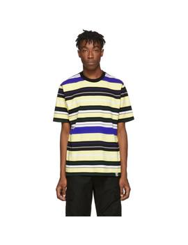 T Shirt Rayé Jaune Flint by Carhartt Work In Progress