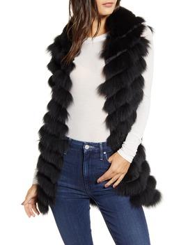 Genuine Fox Fur Vest by Love Token