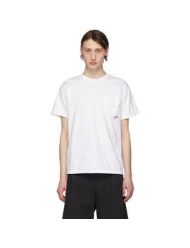 T Shirt Blanc Wet Fish by Noah Nyc