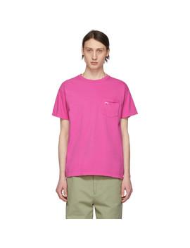 T Shirt à Poche Rose by Noah Nyc