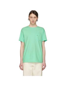 T Shirt à Poche Vert by Noah Nyc