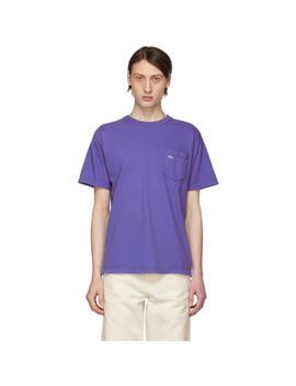 T Shirt à Poche Mauve by Noah Nyc
