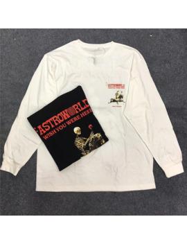 19 Ss New Travis Scott Astroworld Long Sleeve Season Pass Tee Hip Hop Men Women Skull Flowers Printing T Shirts by Ali Express.Com