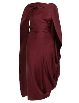 Lillico Cape Hammered Silk Midi Dress by Roland Mouret